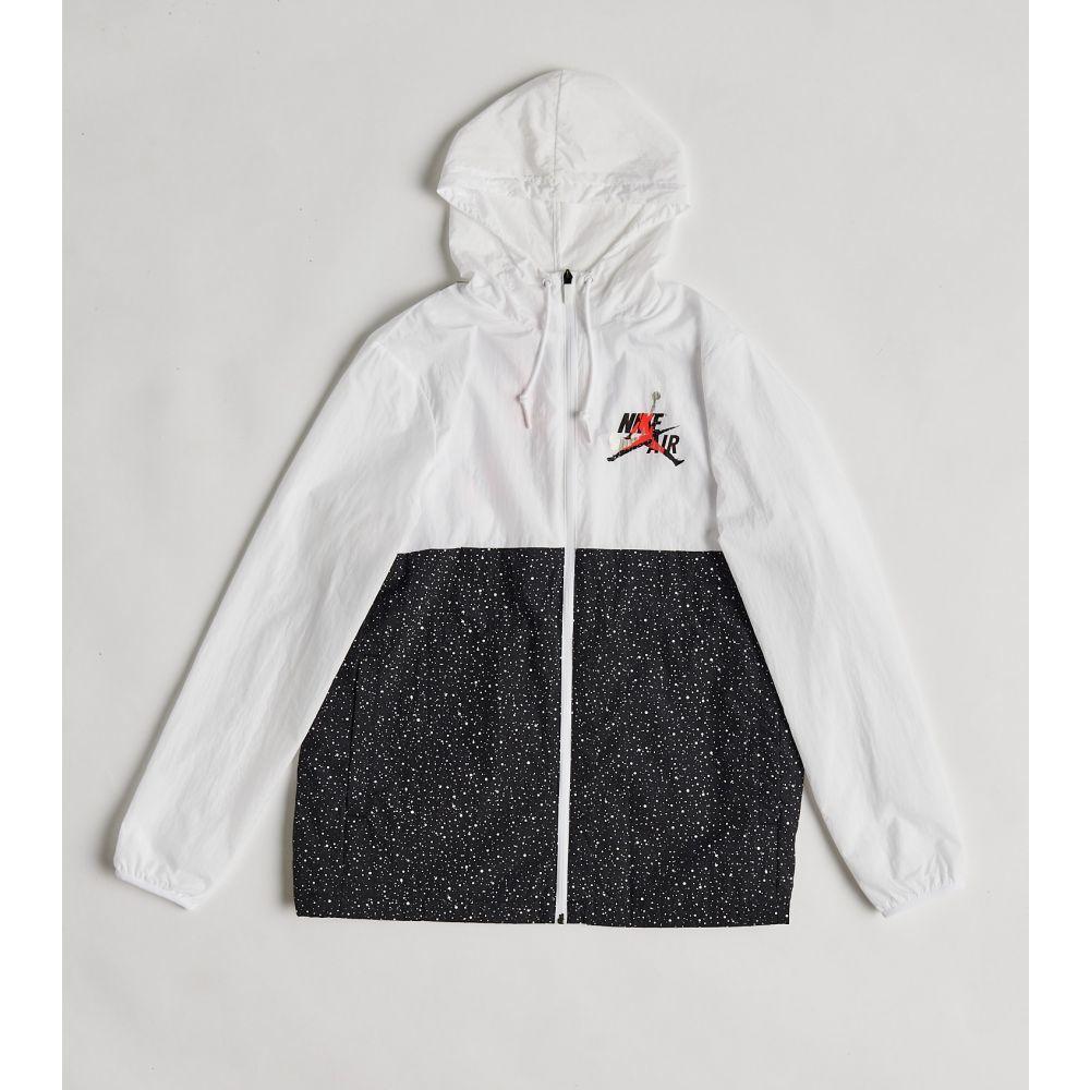 ナイキ ジョーダン Jordan メンズ ジャケット アウター【MJ Classics Windwear Jacket】White/Black/Infrared