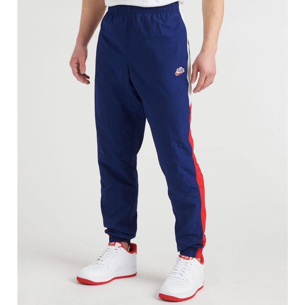 ナイキ Nike メンズ スウェット・ジャージ ワークパンツ ボトムス・パンツ【NSW He Work Signatures Woven Pants】Blue Void/University Red/Summit White