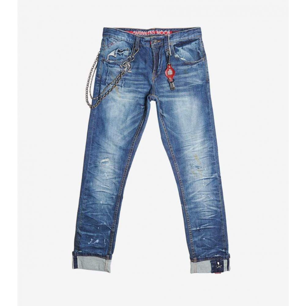 スマグラーズ ムーン Smugglers Moon メンズ ジーンズ・デニム ボトムス・パンツ【Stretch Crinkle Jeans】Indigo