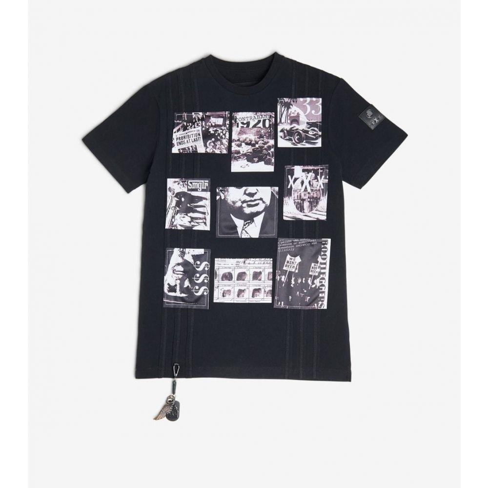 スマグラーズ ムーン Smugglers Moon メンズ Tシャツ トップス【Photo Collage Tee】Bourbon Black