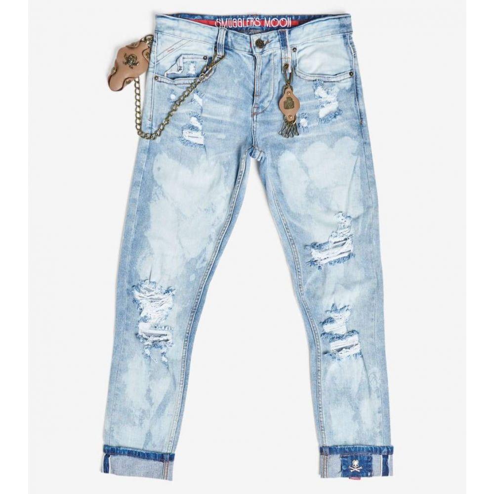 スマグラーズ ムーン Smugglers Moon メンズ ジーンズ・デニム ボトムス・パンツ【Stretch Jeans With Cuff】Koval Indigo