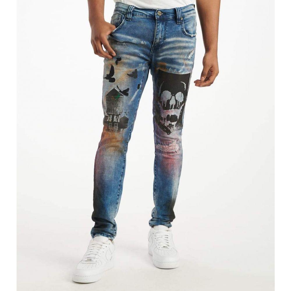 インダストリアル インディゴ Industrial Indigo メンズ ジーンズ・デニム ボトムス・パンツ【Black Painted Jeans】Black Paint