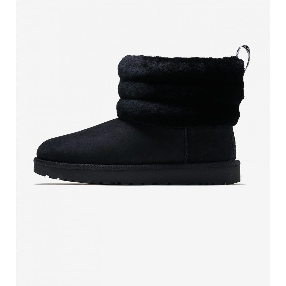 アグ Ugg レディース ブーツ シューズ・靴【Fluff Mini Quilted】Black