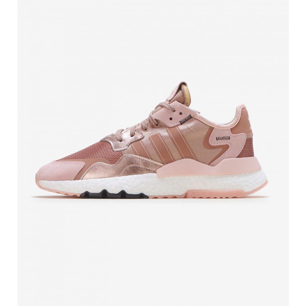 アディダス Adidas レディース ランニング・ウォーキング ジョガーパンツ シューズ・靴【Nite Jogger】Rose Gold