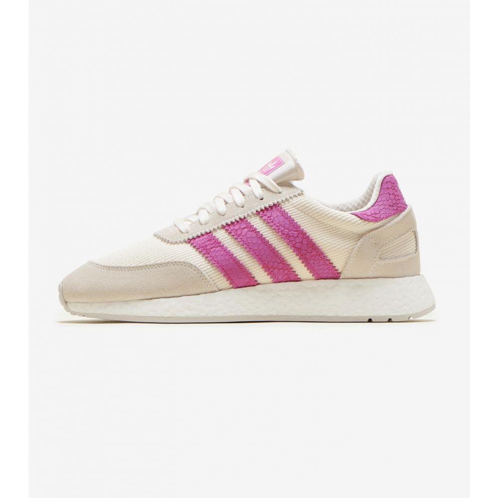 アディダス Adidas レディース ランニング・ウォーキング シューズ・靴【I-5923 Shoe】Off White/Pink/Grey