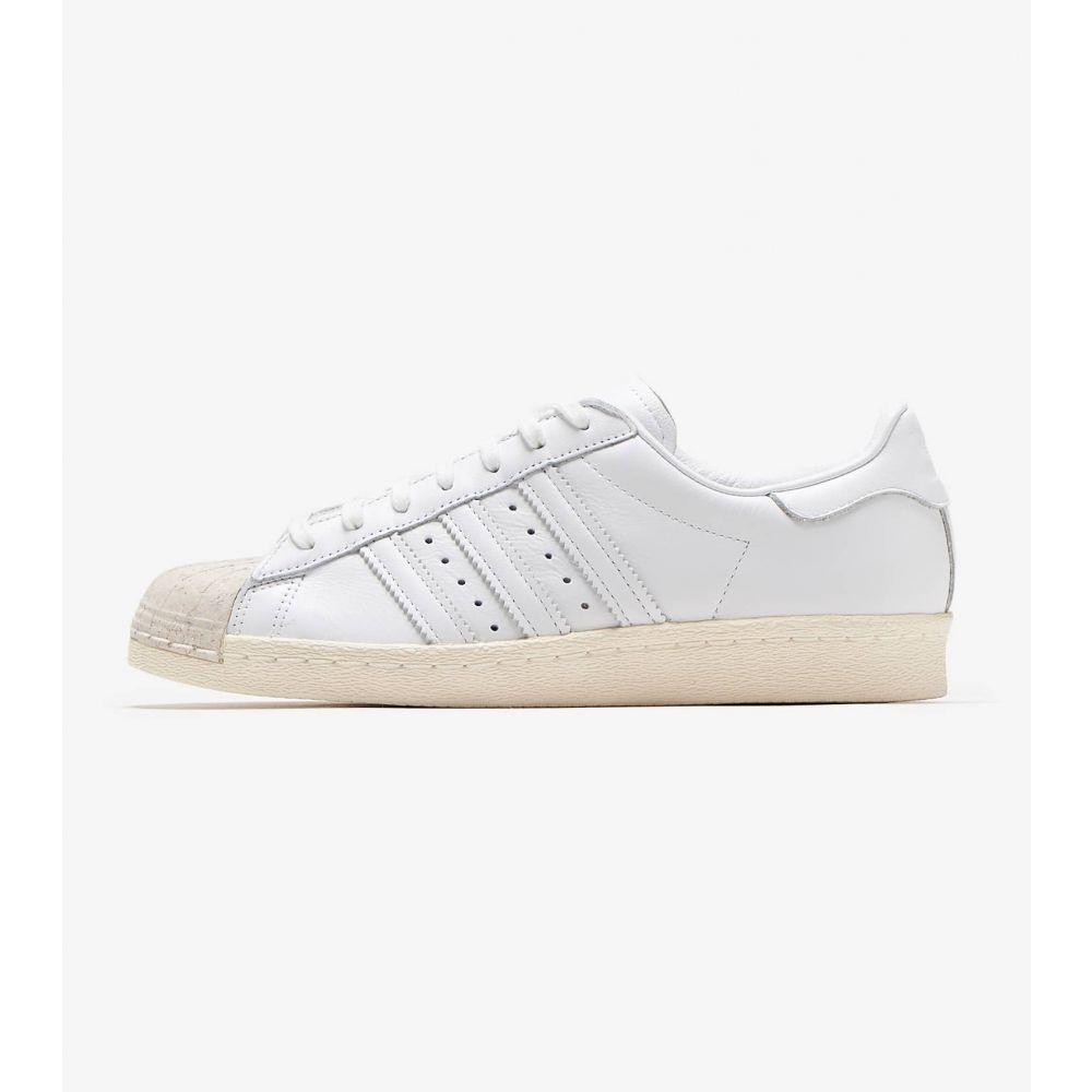 アディダス Adidas レディース スニーカー シューズ・靴【Superstar 80s Cork】White