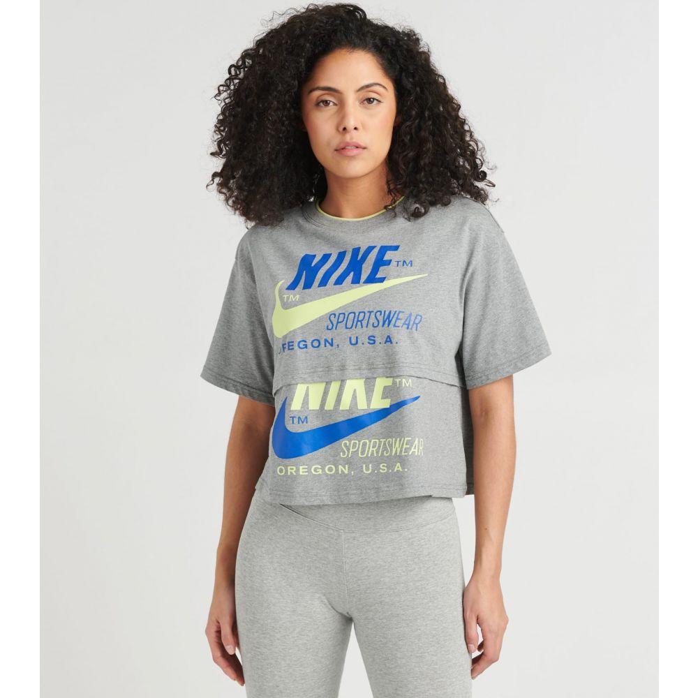 ナイキ Nike レディース トップス 【NSW Icon Clash Top】Carbon Heather