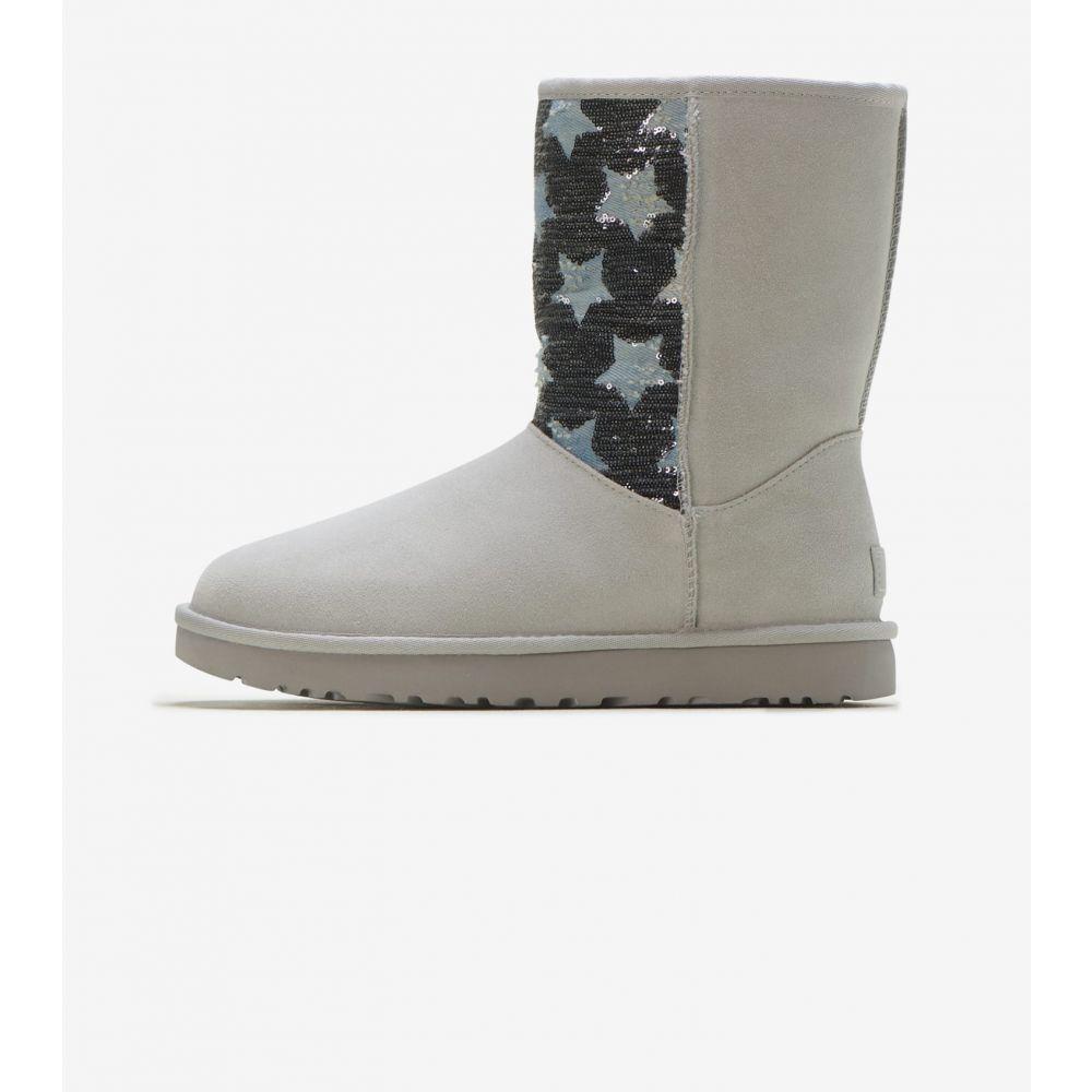 アグ Ugg レディース ブーツ シューズ・靴【Classic Short Sequin】Grey