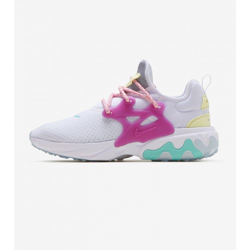 ナイキ Nike レディース ランニング・ウォーキング シューズ・靴【React Presto】White/Violet/Green/Coral