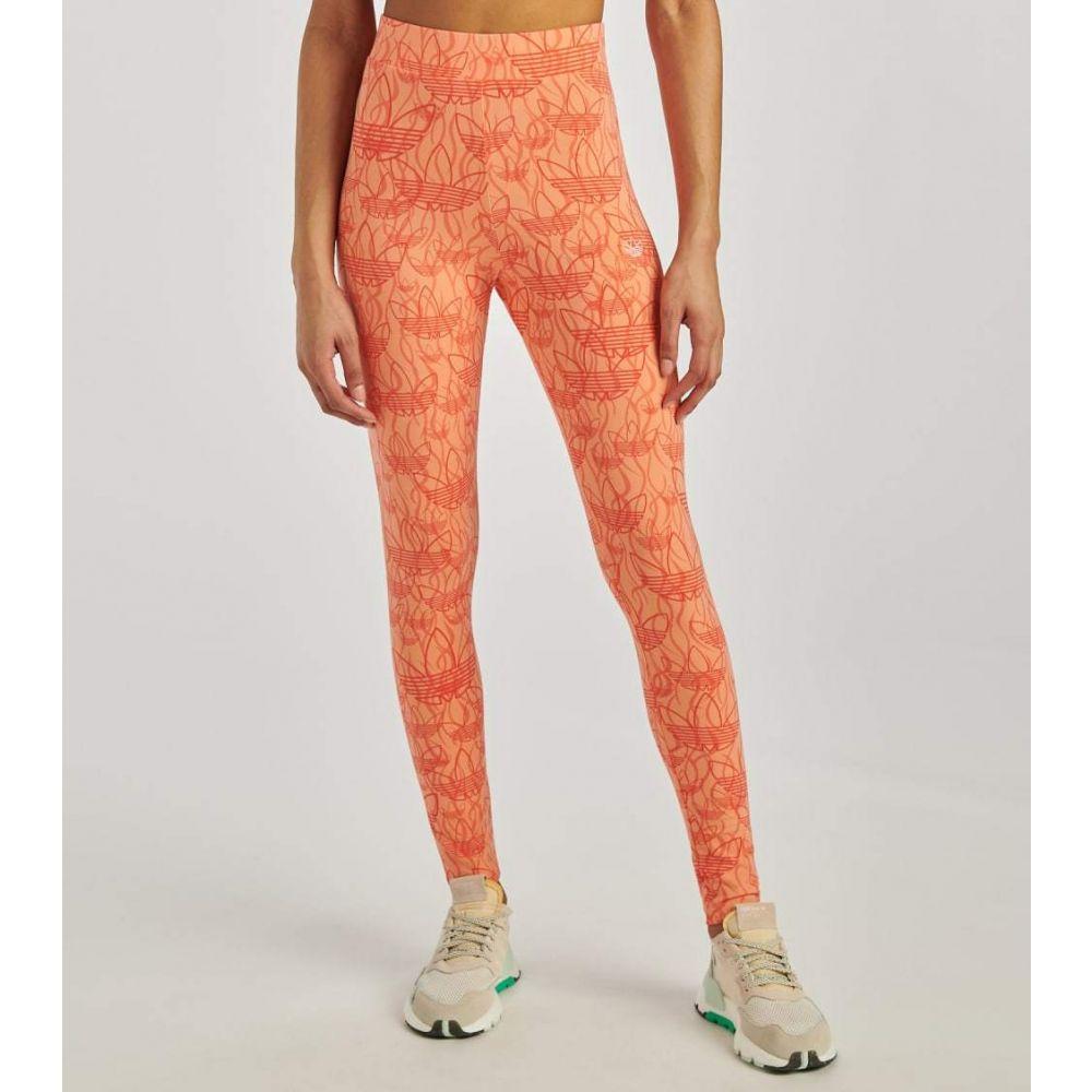 アディダス Adidas レディース フィットネス・トレーニング スパッツ・レギンス ボトムス・パンツ【All Over Print Tights】Chalk Coral