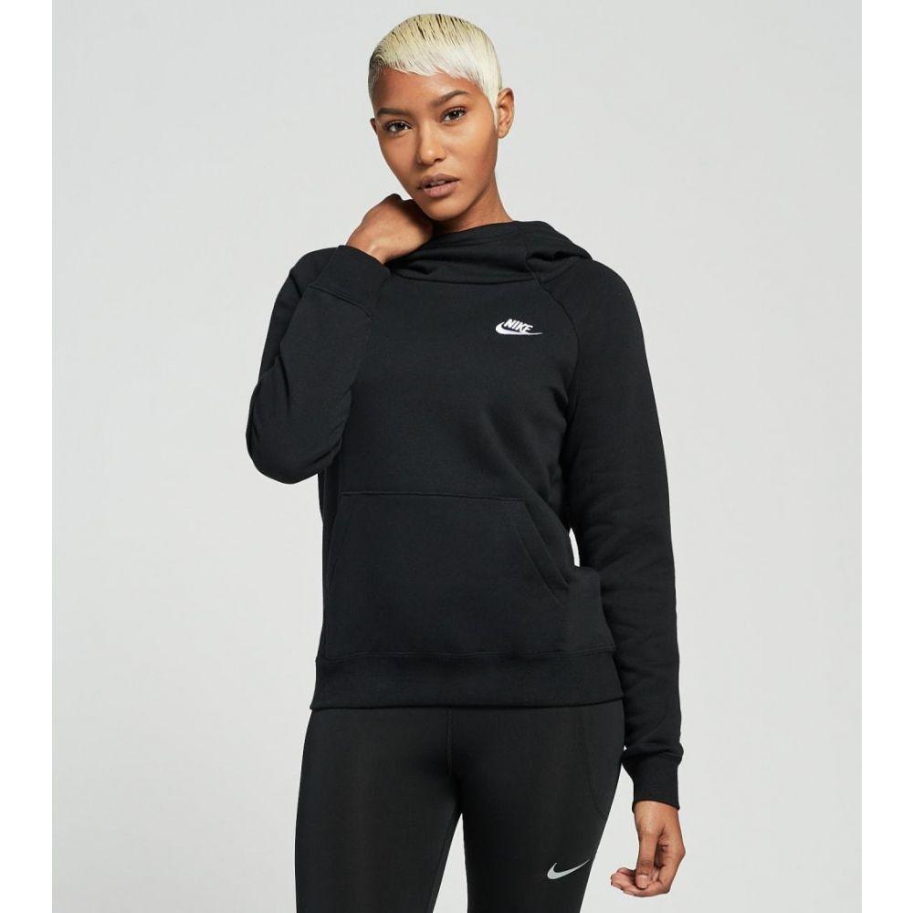 ナイキ レディース 店内全品対象 トップス パーカー サイズ交換無料 Nike 超人気 nsw fleece hoodie BLACK pullover essential WHITE