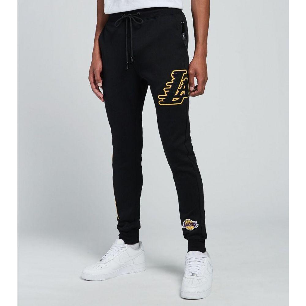 プロ スタンダード メンズ ボトムス パンツ 正規逆輸入品 ジョガーパンツ オンラインショップ サイズ交換無料 Pro lakers BLACK logo Standard joggers fleece