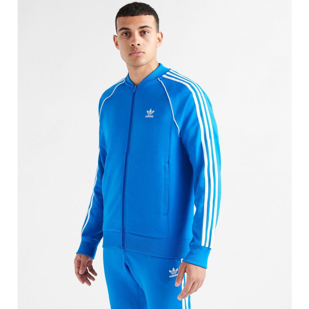 アディダス adidas メンズ ジャージ アウター【side stripe track jacket】Bluebird