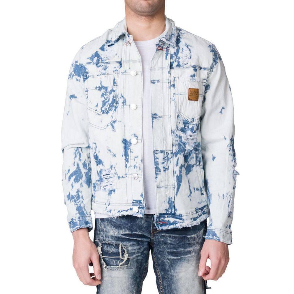 ヘリテイジ Heritage メンズ ジャケット Gジャン アウター【shredded denim jacket】Lt Indigo