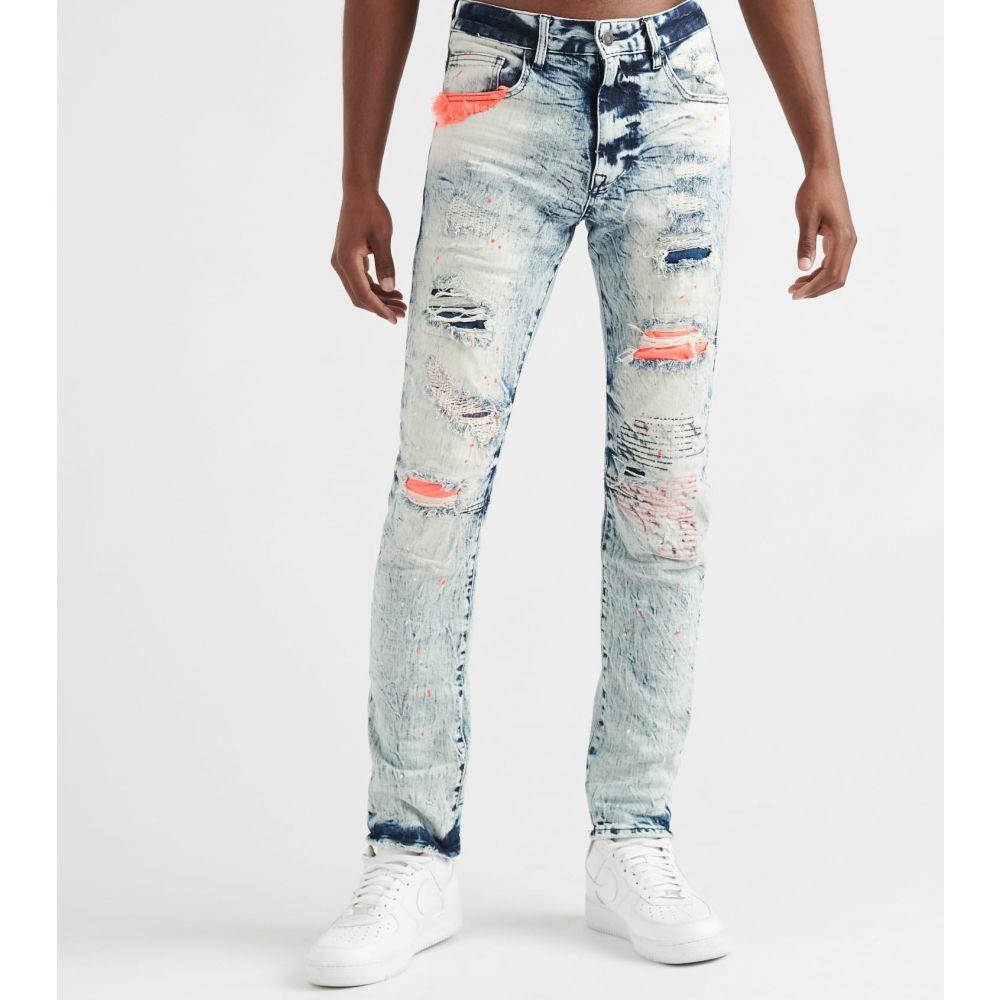 デシベル Decibel メンズ ジーンズ・デニム ボトムス・パンツ【fashion jeans w red paint splatter】Nike Blue