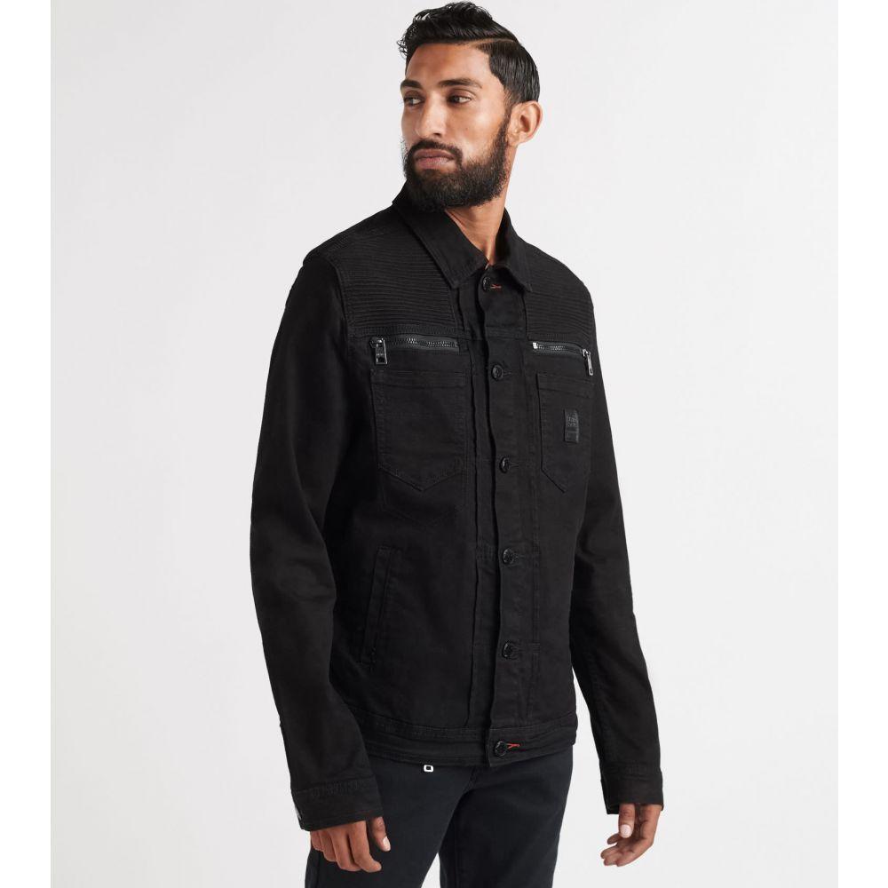 ヘリテイジ Heritage メンズ ジャケット Gジャン アウター【denim jacket w/ rips】Black