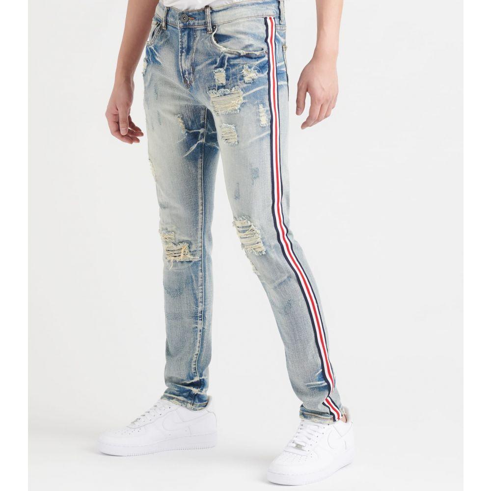 デシベル Decibel メンズ ジーンズ・デニム ボトムス・パンツ【russel jeans with taping】Indigo/Navy