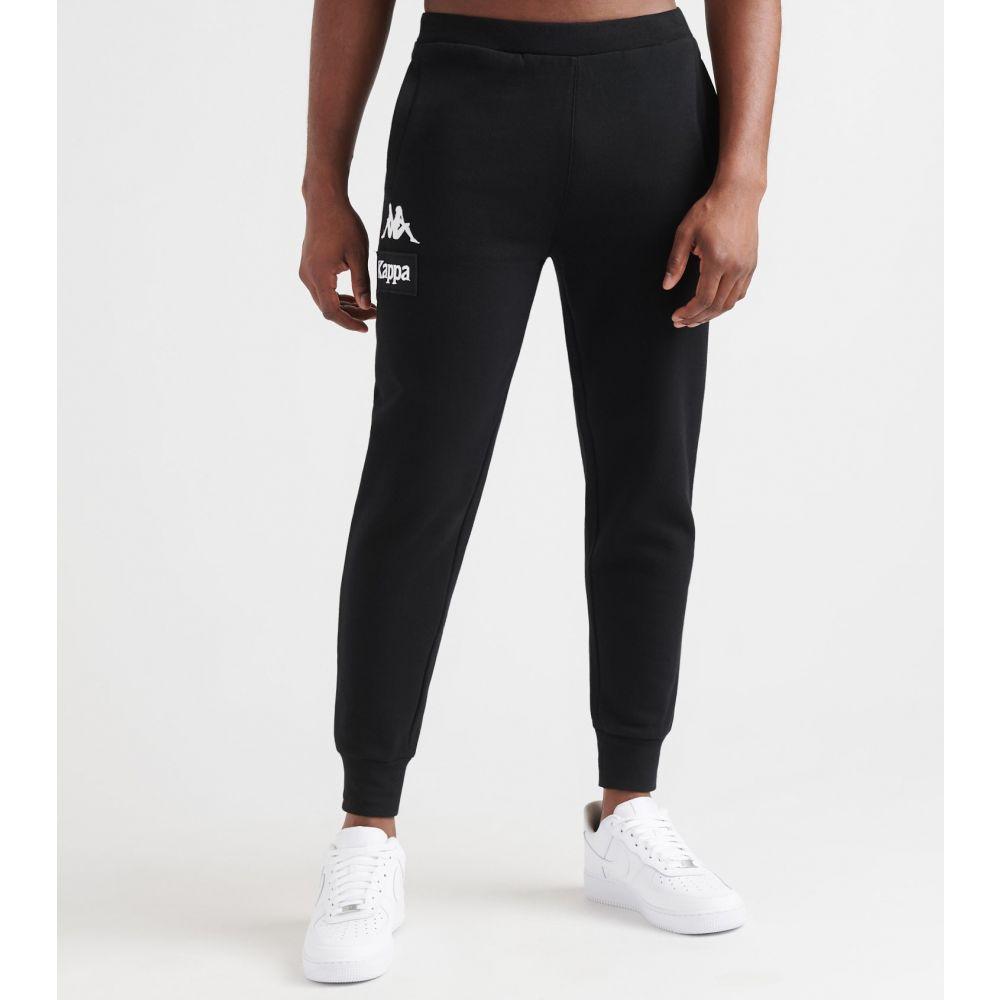 カッパ Kappa メンズ スウェット・ジャージ ボトムス・パンツ【authentic la barnie joggers】Black/White
