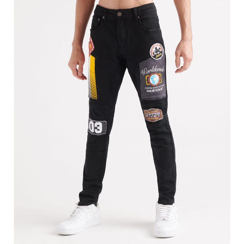 デシベル Decibel メンズ ジーンズ・デニム ボトムス・パンツ【silicon embossed jeans】Black