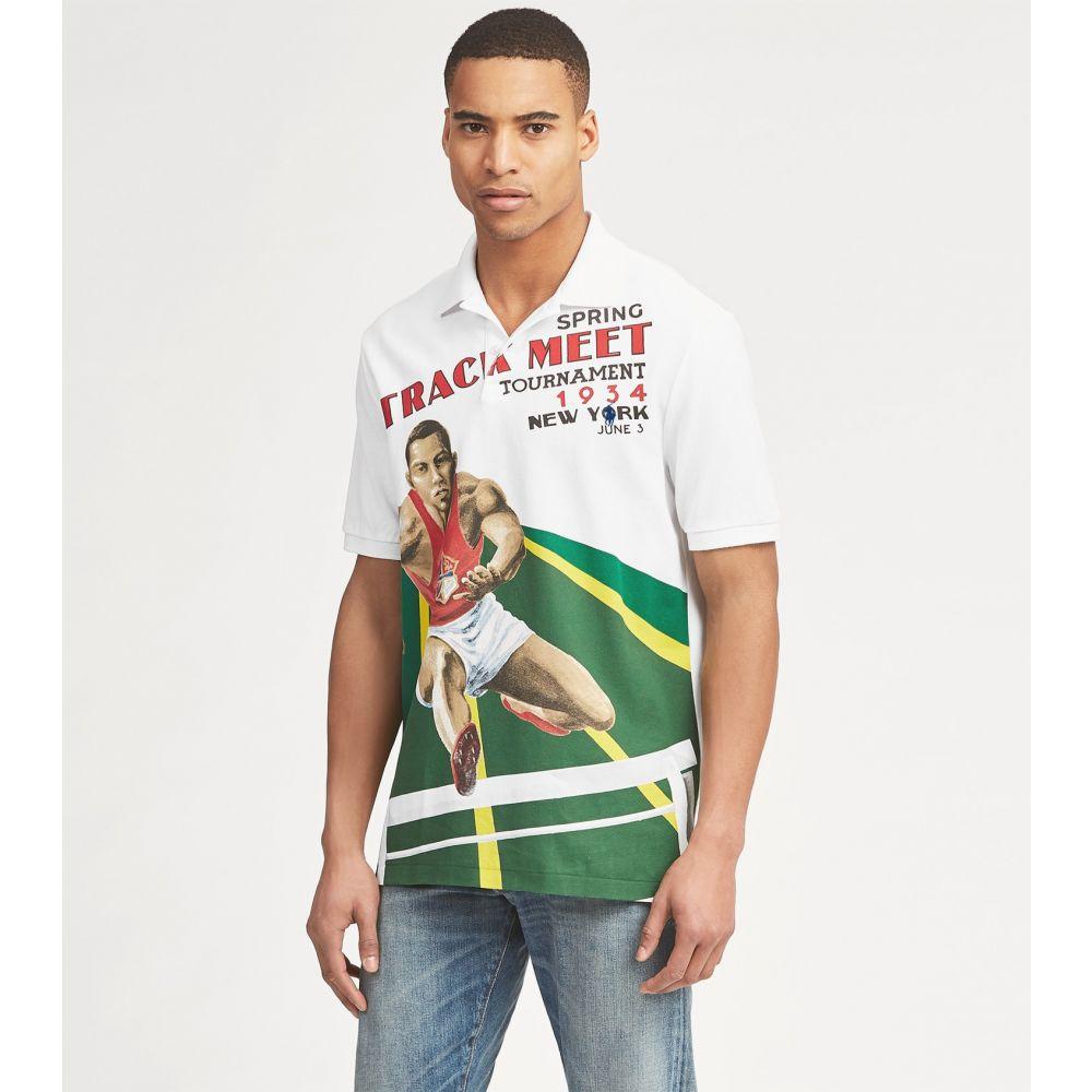 ラルフ ローレン Polo Ralph Lauren メンズ ポロシャツ トップス【custom slim fit mesh polo】White Multi