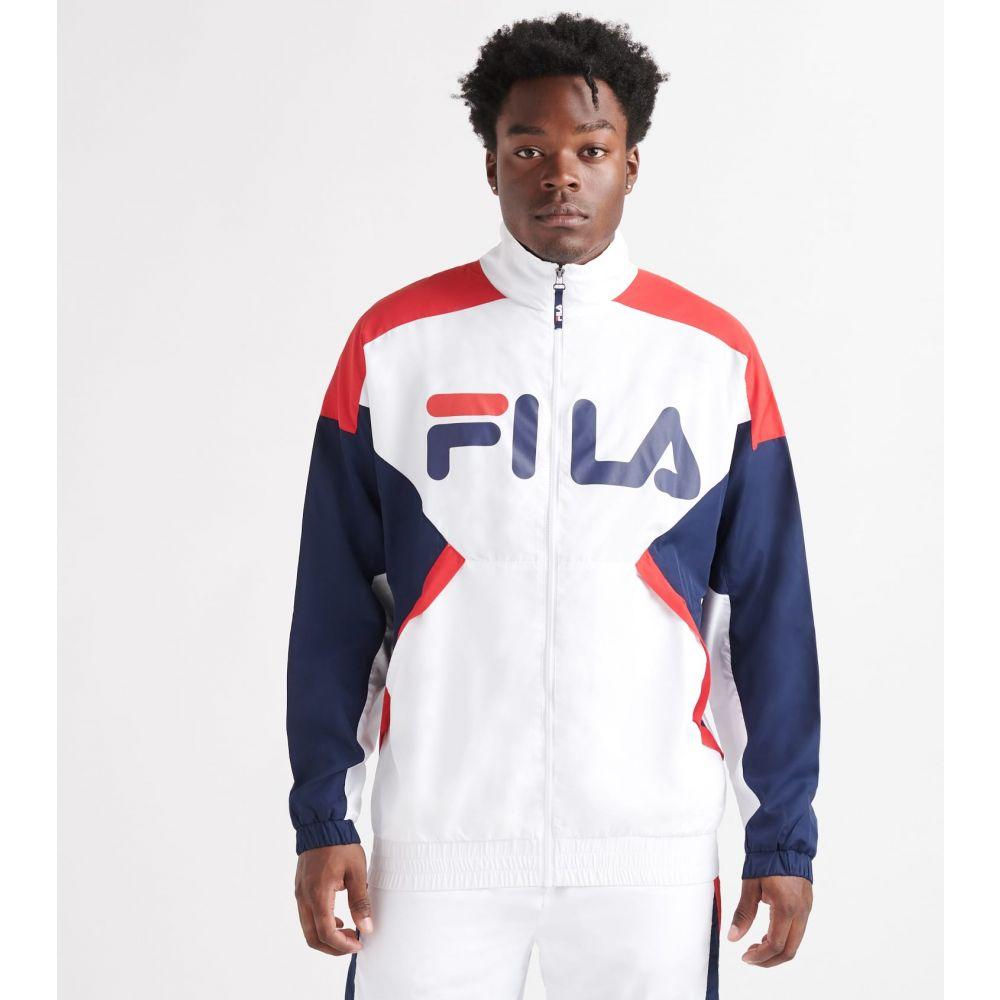 フィラ FILA メンズ ジャケット ウィンドブレーカー アウター【oliviero wind jacket】WHITE/PEACOAT/CHINESE RED