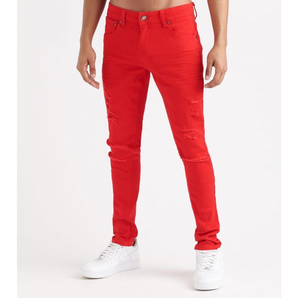 デシベル Decibel メンズ ボトムス・パンツ 【twill rip n' crinkle pants】Red