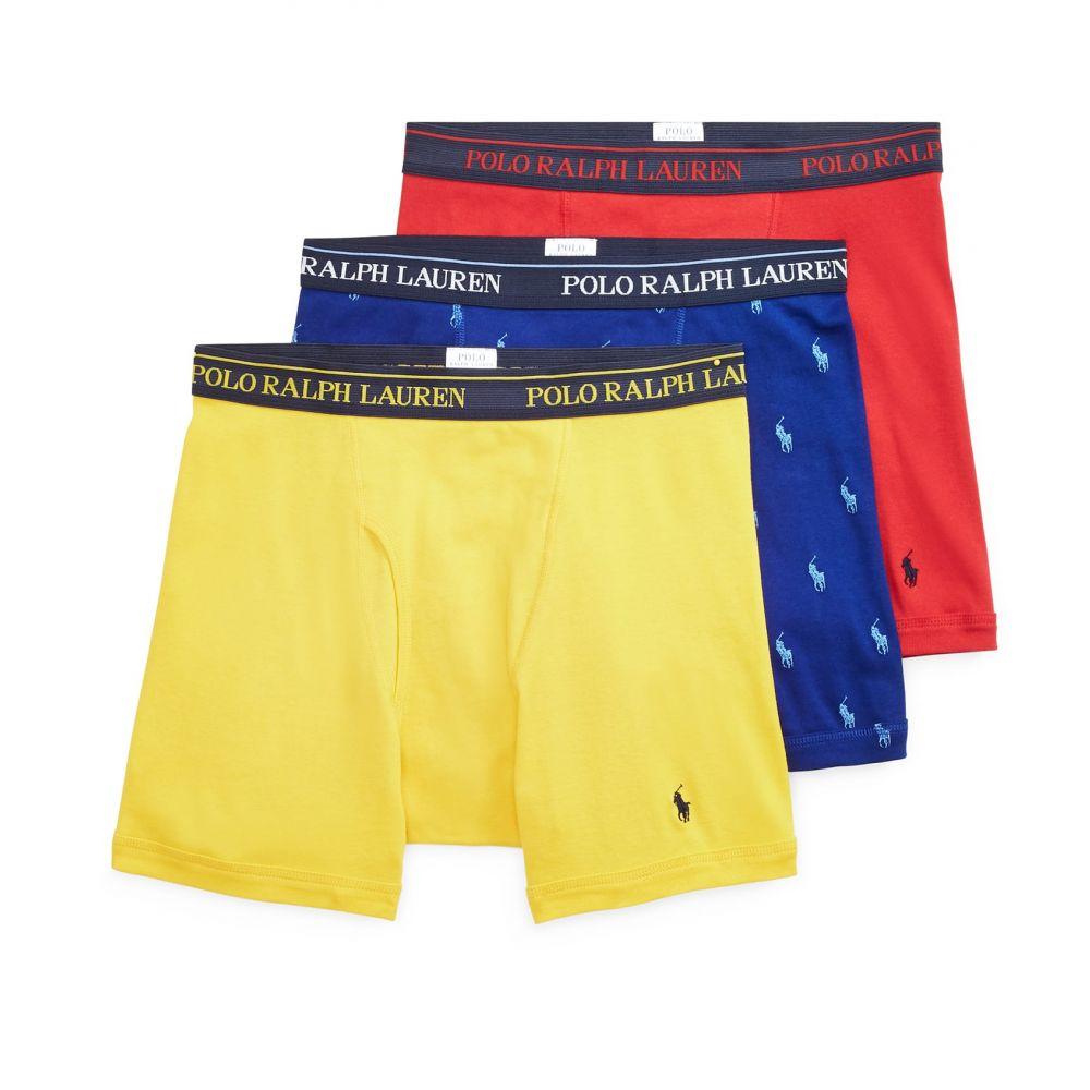 ポロ Polo メンズ ボクサーパンツ 3点セット インナー・下着【3pk boxer briefs】Blue/Red/Yellow