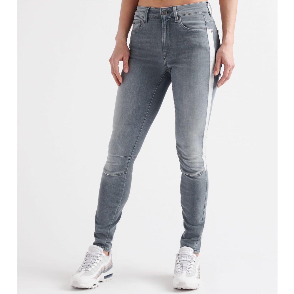ジースター ロゥ G-star レディース ジーンズ・デニム ボトムス・パンツ【biwes stripe high skinny jeans】Medium Aged Grey