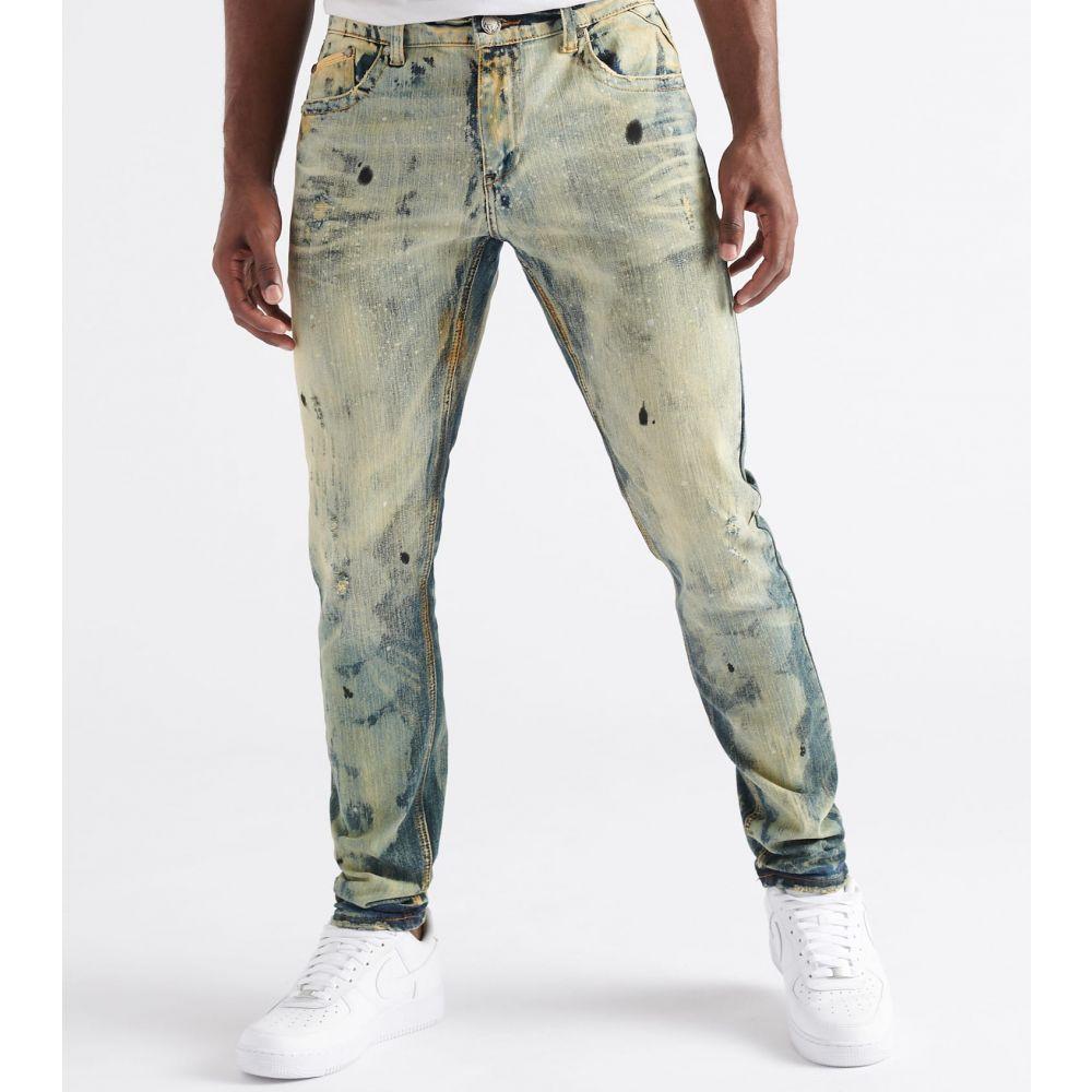 ヘリテイジ Heritage メンズ ジーンズ・デニム ボトムス・パンツ【Bleached Paint Jeans】Indigo