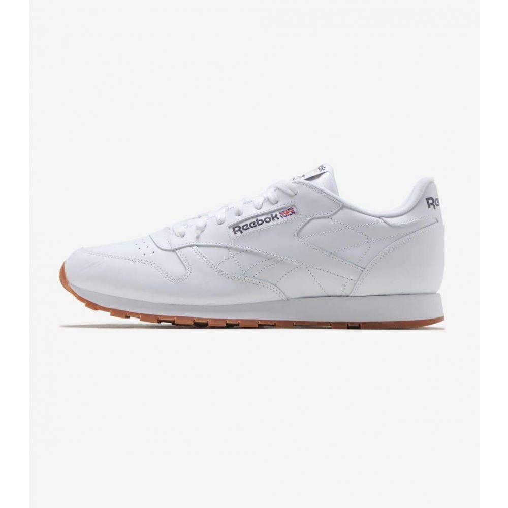 リーボック Reebok メンズ ランニング・ウォーキング シューズ・靴【Classic Leather】White/Gum