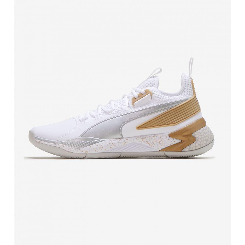 プーマ Puma メンズ スニーカー シューズ・靴【Uproar Hybrid Court】White/Gold