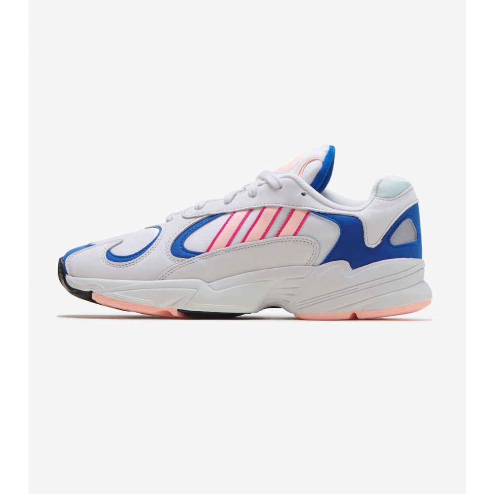 アディダス Adidas メンズ ランニング・ウォーキング シューズ・靴【Yung-1】White/Orange/Royal
