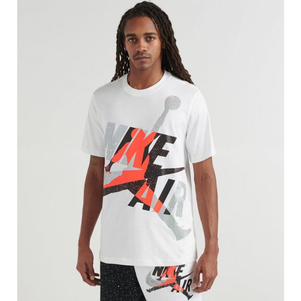 ナイキ ジョーダン Jordan メンズ Tシャツ ジャンプマン トップス【Classic Jumpman Tee】White/Infrared/Metallic Silver