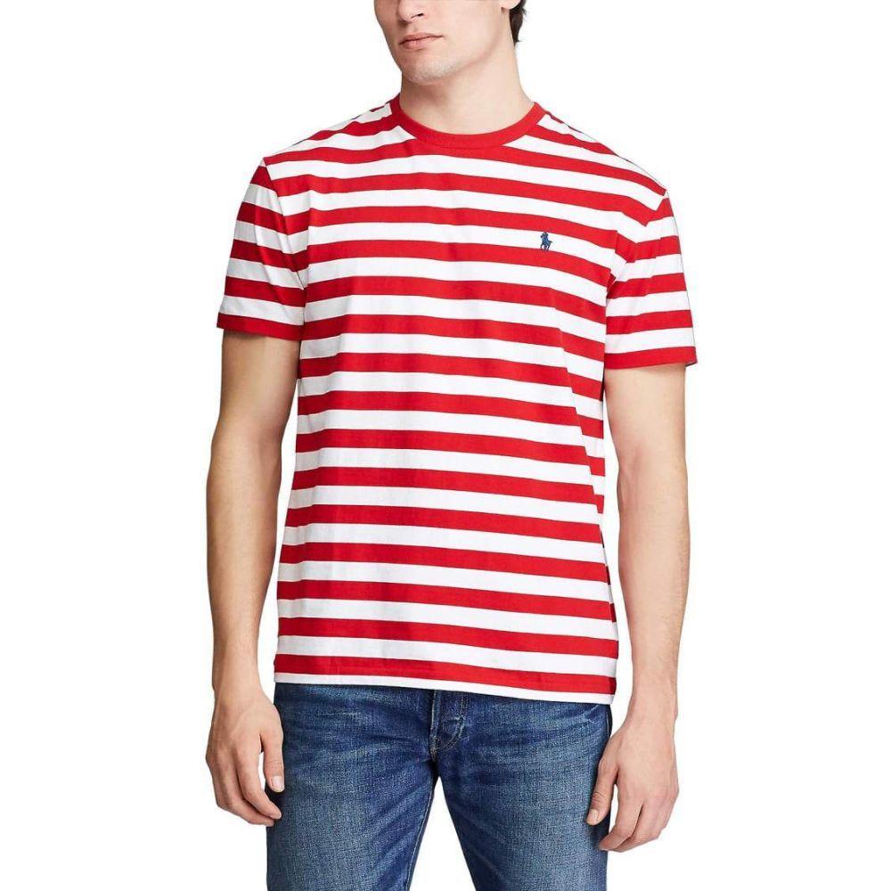 ラルフ ローレン Polo Ralph Lauren メンズ Tシャツ トップス【Classic Fit Striped T-Shirt】RL Red/White