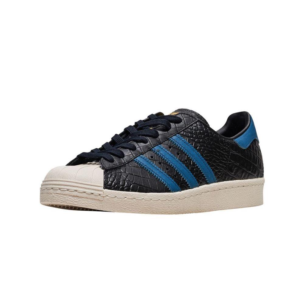 アディダス Adidas メンズ スニーカー シューズ・靴【Superstar 80s】Black/Blue/Gold