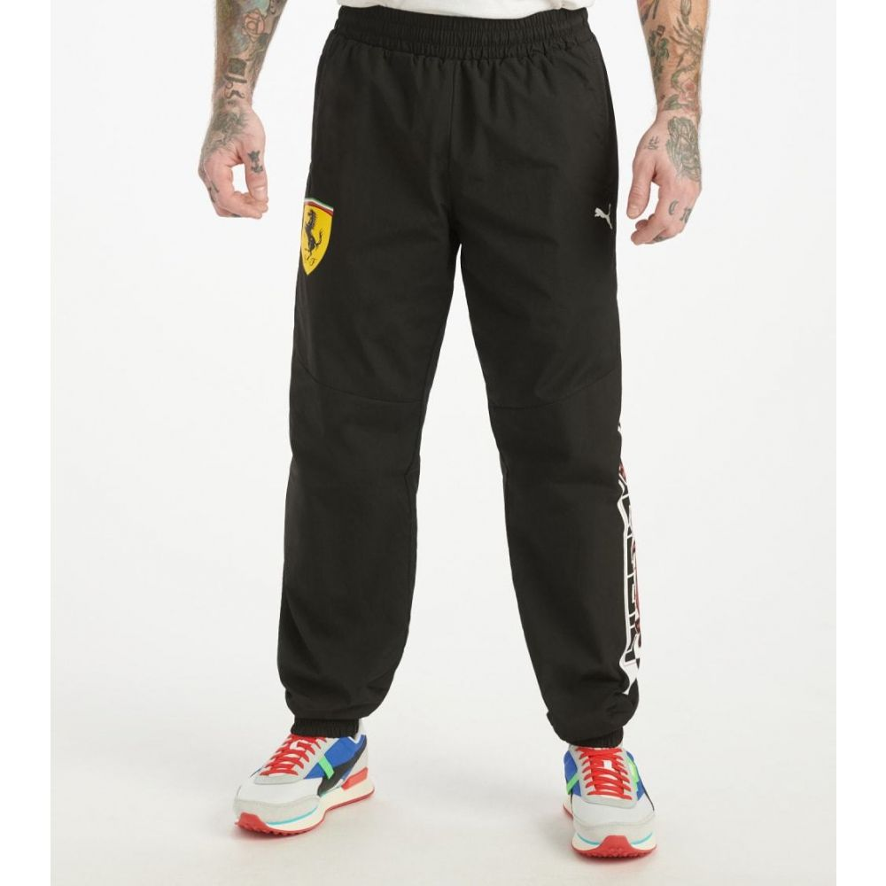 プーマ Puma メンズ スウェット・ジャージ ボトムス・パンツ【SF Street Woven Pants】Black