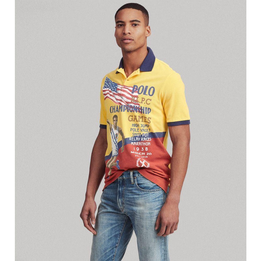 ラルフ ローレン Polo Ralph Lauren メンズ ポロシャツ トップス【Custom Slim Fit Mesh Polo】Canary Yellow Multi