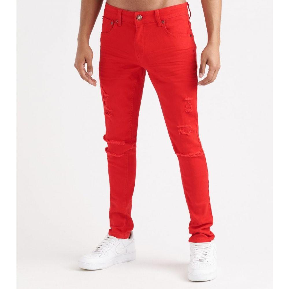 デシベル Decibel メンズ ボトムス・パンツ 【Twill Rip n' Crinkle Pants - L32】Red