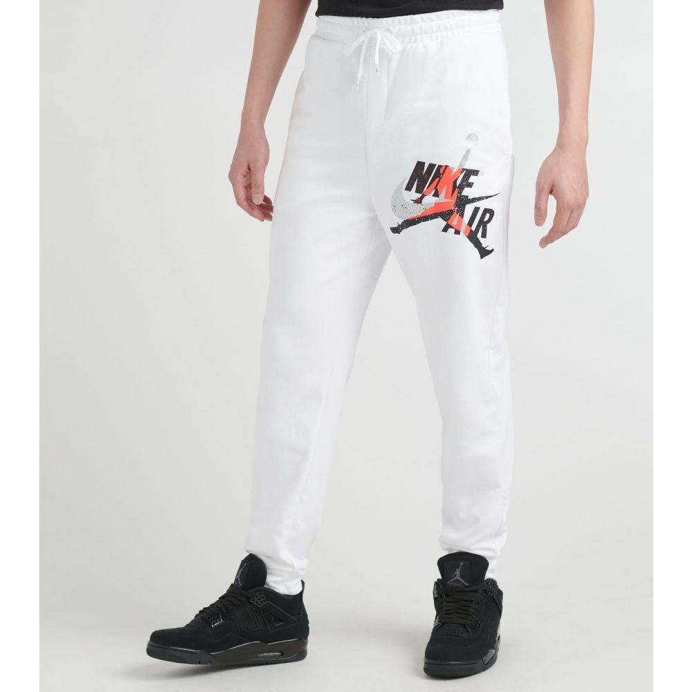 ナイキ ジョーダン Jordan メンズ スウェット・ジャージ ジャンプマン ボトムス・パンツ【MJ Jumpman Classics Fleece Pants】White
