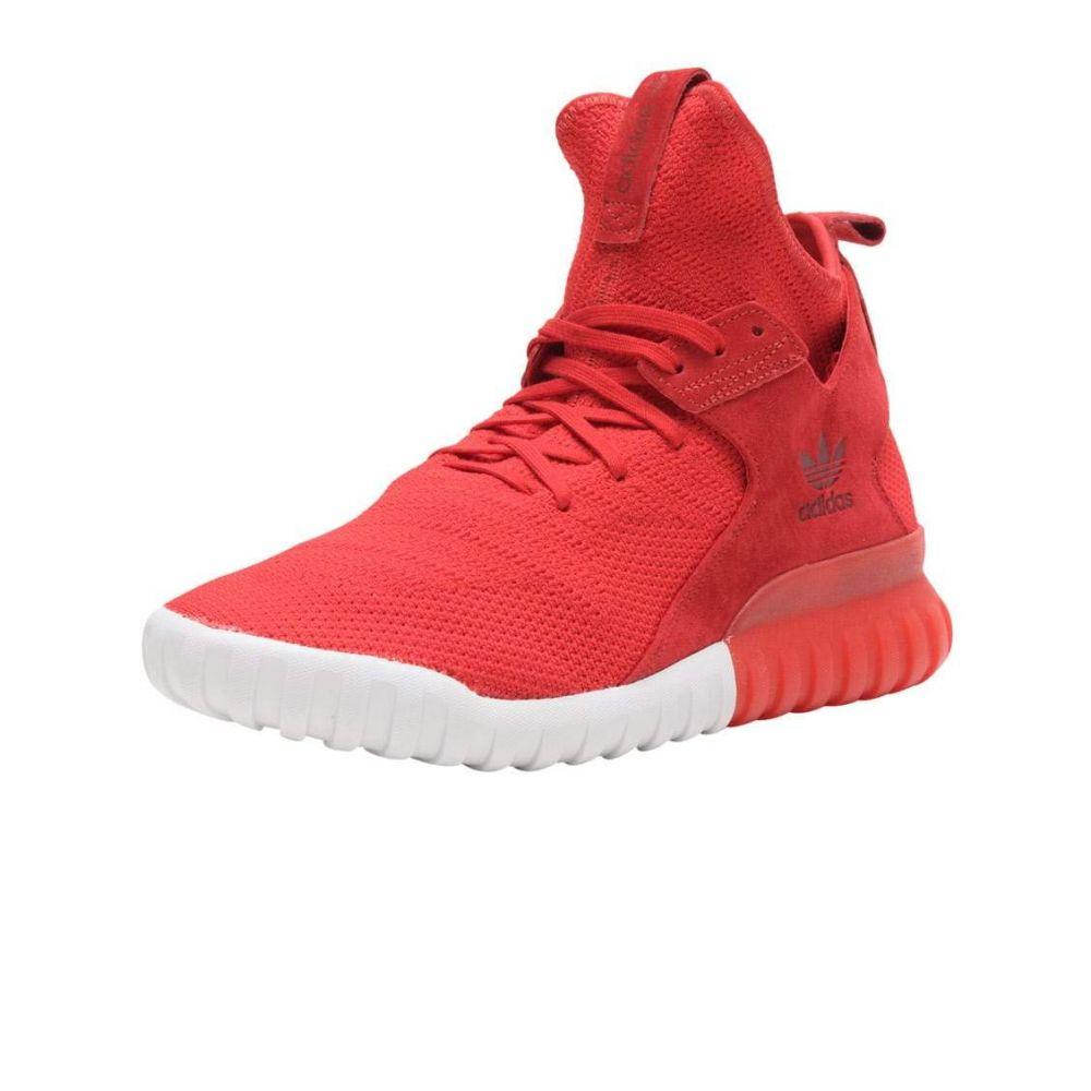 アディダス Adidas メンズ ランニング・ウォーキング シューズ・靴【TUBULAR X PRIMEKNIT】Red/White