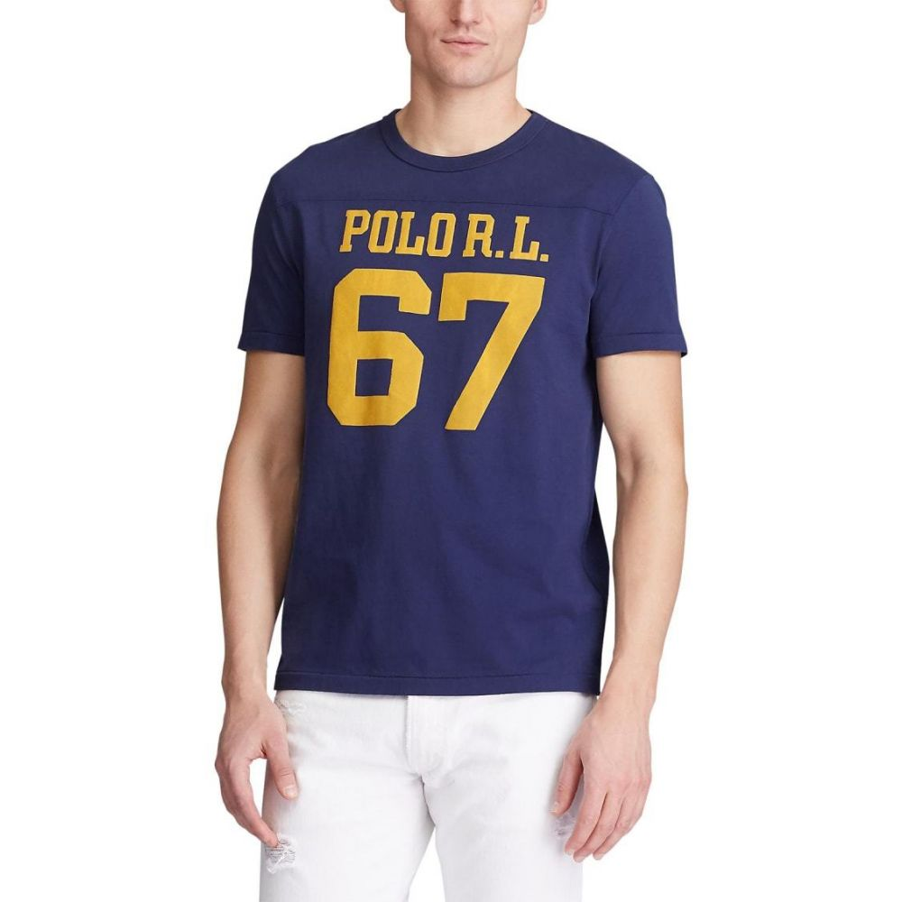 ラルフ ローレン Polo Ralph Lauren メンズ Tシャツ トップス【Classic Fit Graphic T-Shirt】Cruise Navy