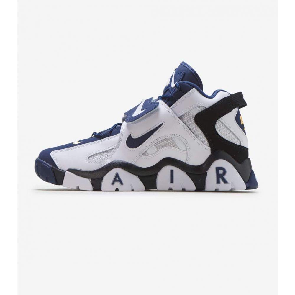 ナイキ Nike メンズ フィットネス・トレーニング シューズ・靴【Air Barrage Mid】White/Navy