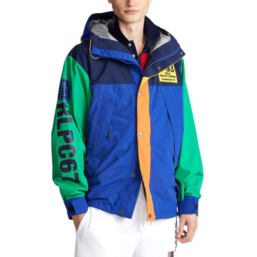 ラルフ ローレン Polo Ralph Lauren メンズ ジャケット アウター【Graphic Water-Repellent Jacket】Royal Multicolor