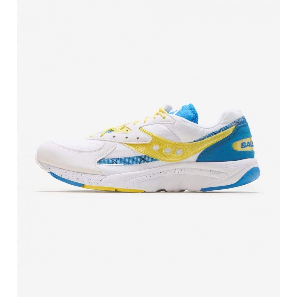 サッカニー Saucony メンズ ランニング・ウォーキング シューズ・靴【Aya】White/Yellow/Blue