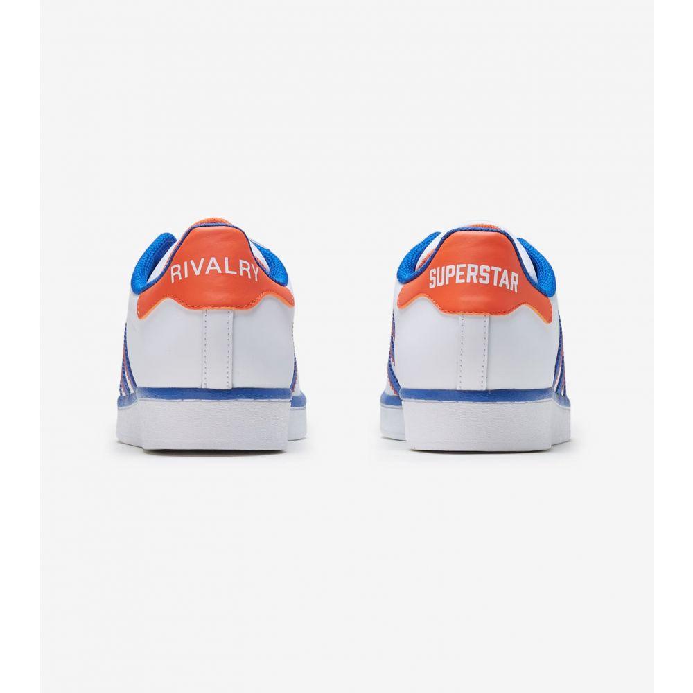 アディダス Adidas メンズ スニーカー シューズ・靴 Superstar White Blue Orange8wNPkXn0O