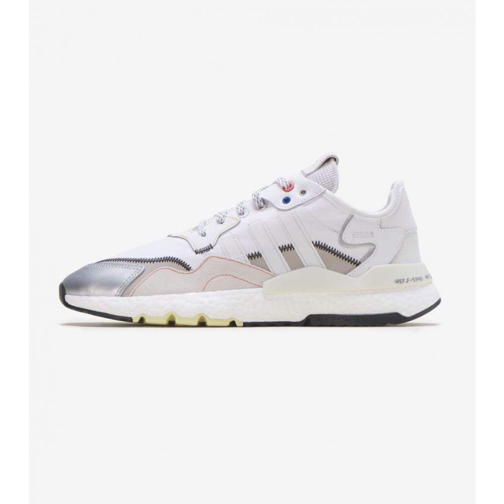 アディダス Adidas メンズ ランニング・ウォーキング ジョガーパンツ シューズ・靴【Nite Jogger Space Tech】Grey/White