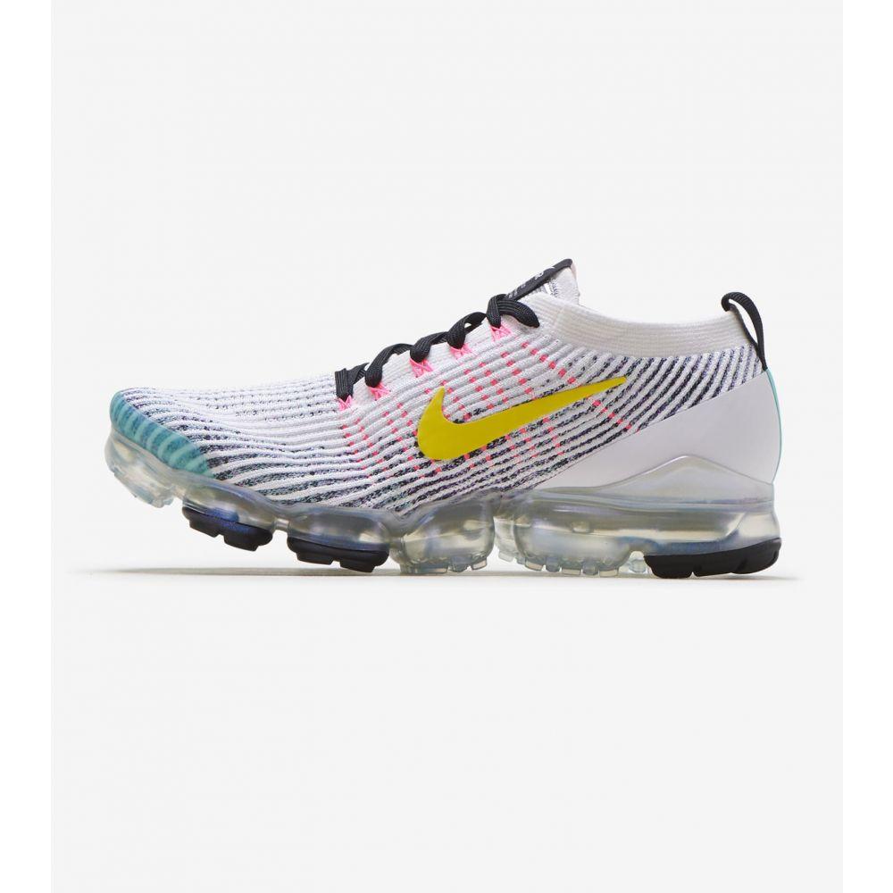 ナイキ Nike メンズ ランニング・ウォーキング シューズ・靴【Air Vapormax Flyknit 3】White/Dynamic Yellow/Hyper Tur