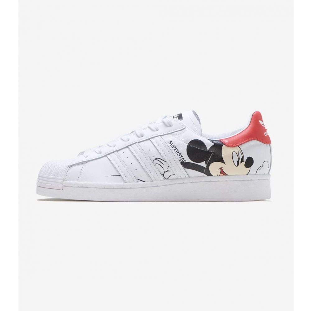 アディダス Adidas メンズ スニーカー シューズ・靴【Superstar Mickey】White/Black
