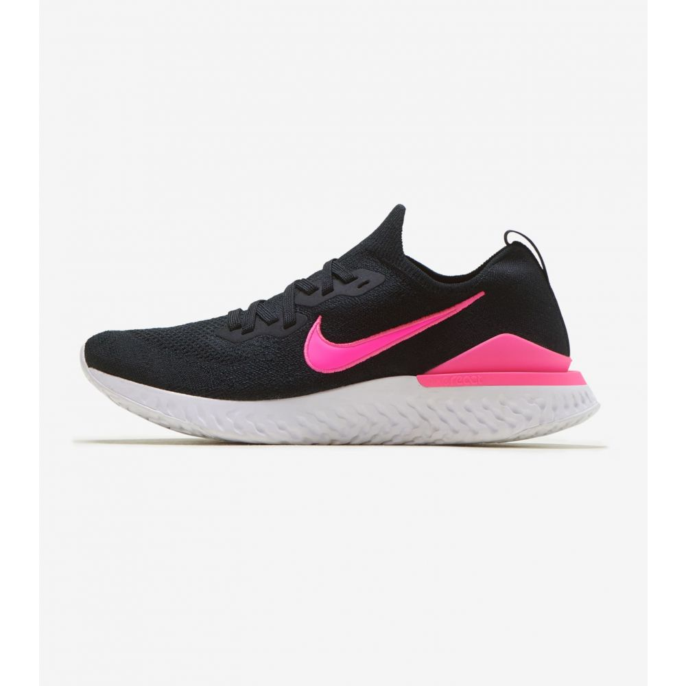 ナイキ Nike メンズ ランニング・ウォーキング シューズ・靴【Epic React Flyknit 2】Black/Black-Pink Blast-White