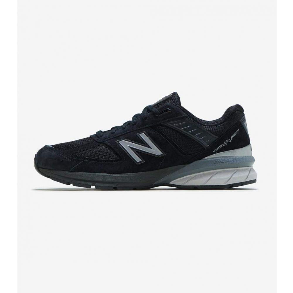 ニューバランス New Balance メンズ ランニング・ウォーキング シューズ・靴【990v5】Black/Silver